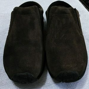 Merrell, Brown Suede Clogs